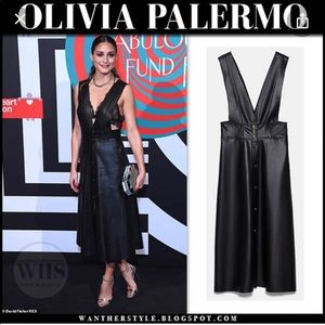 Zara leather dress as seen on Olivia Palermo